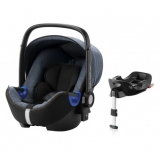 ROMER Baby-Safe i-Size Bundle Flex 2018 Blue Marble